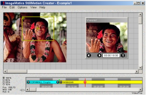 ImageMatics StillMotion Creator - Slide Show, Pan and Zoom,  Panorama, Virtual Tour, Digital Photography, Multimed - Create pan and zoom movies and shows from still images.